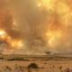 smoke plume over wildfire